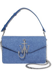 JW Anderson Logo felt and leather shoulder bag