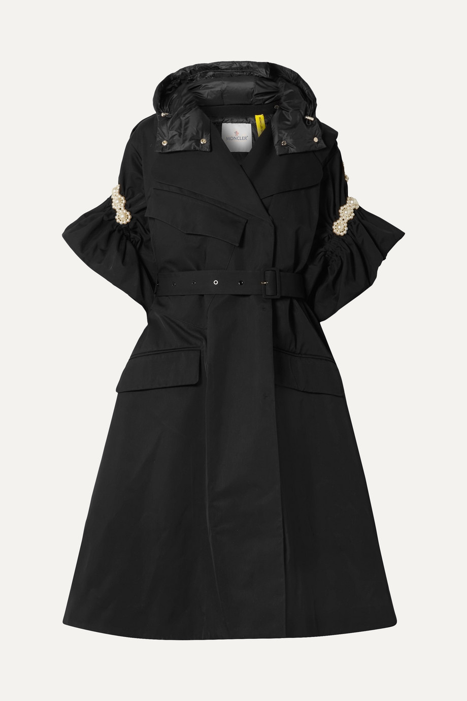 Moncler Genius + 4 Simone Rocha faux pearl-embellished shell trench coat