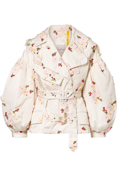 Moncler Genius Downs 4 SIMONE ROCHA EMBELLISHED EMBROIDERED SHELL DOWN JACKET
