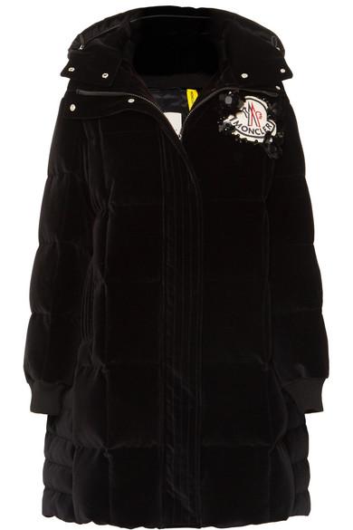 bba22c4b7d42 + 4 Simone Rocha appliquéd quilted cotton-velvet down hooded coat
