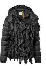 Moncler Genius + 4 Simone Rocha Bady embellished ruffled quilted shell down jacket