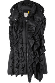Moncler Genius + 4 Simone Rocha ruffled quilted shell vest