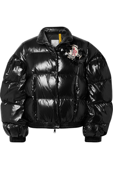 Moncler Genius | 4 Simone Rocha quilted glossed-shell down jacket | NET-A- PORTER.COM