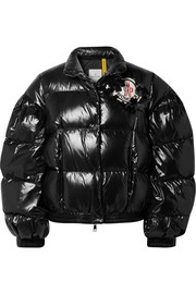 Moncler Genius + 4 Simone Rocha quilted glossed-shell down jacket