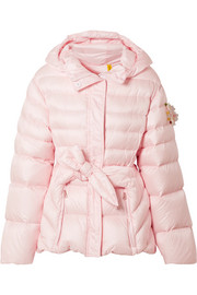 Moncler Genius + 4 Simone Rocha embellished belted shell down jacket