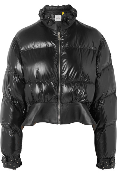 12bdea311 + 6 Noir Kei Ninomiya cropped appliquéd quilted shell down jacket