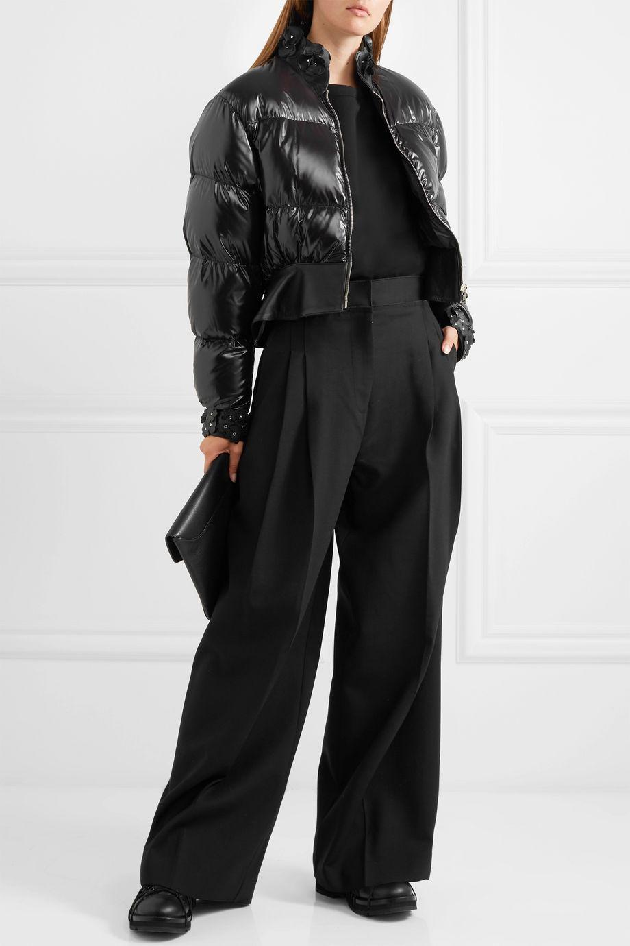 Moncler Genius + 6 Noir Kei Ninomiya cropped appliquéd quilted shell down jacket