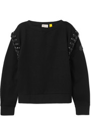Moncler Genius Sweat en tissu technique et en jersey à point de surjet par 6 Noir Kei Ninomiya