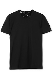 Moncler Genius + 6 Noir Kei Ninomiya lace-up cotton-jersey T-shirt