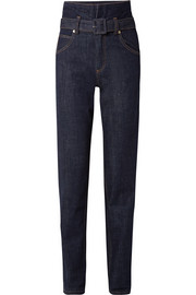 Carven High-rise straight-leg jeans