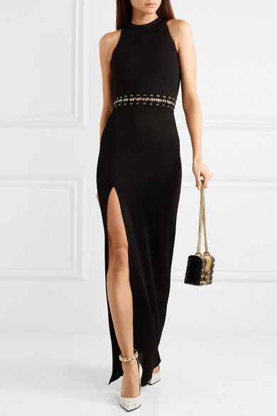 Exclusive Embellished Stretch Knit Maxi Dress by Balmain