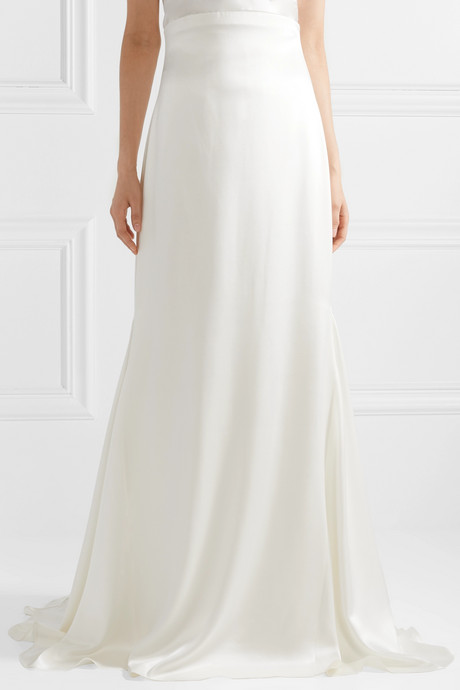 Silk-satin maxi skirt