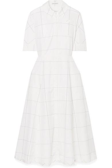 Janis Checked Cotton-Poplin Dress