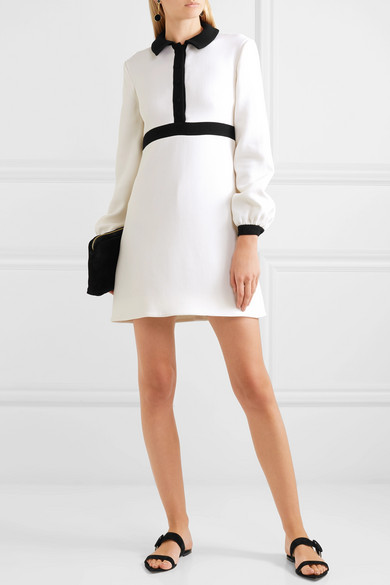 Tobias Two Tone Wool Crepe Mini Dress by Emilia Wickstead