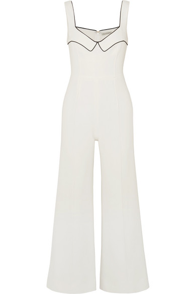 Layla Piped Wool Crepe Jumpsuit by Emilia Wickstead