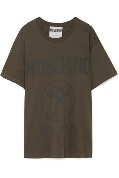 Embroidered Cotton Jersey T Shirt by Moschino