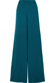 Nara hammered silk-satin wide-leg pants