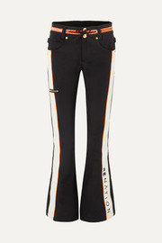+ DC Viva striped flared ski pants