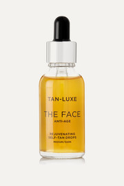 The Face Anti-Age Rejuvenating Self-Tan Drops - Medium/Dark, 30ml