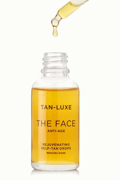 tan luxe the face anti age rejuvenating self tan drops medium dark 30 ml serum net a. Black Bedroom Furniture Sets. Home Design Ideas