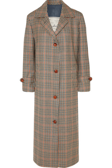 GIULIVA HERITAGE COLLECTION MARIA CHECKED WOOL COAT