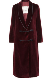 Giuliva Heritage Collection Manteau en velours de coton Claudia