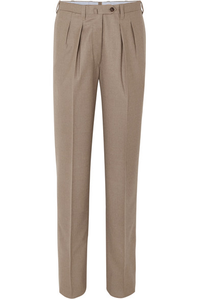 GIULIVA HERITAGE COLLECTION HUSBAND WOOL-BLEND TAPERED PANTS