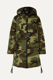 Olympia camouflage-print shell down parka