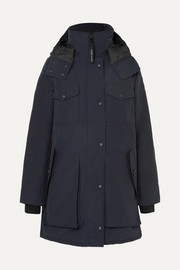 Gabriola hooded shell down parka