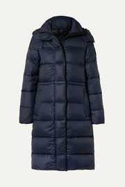 Arosa hooded quilted shell down parka