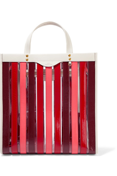 Anya Hindmarch - Paneled Leather And Pvc Tote - Red