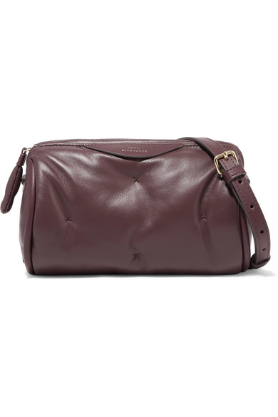 Anya Hindmarch - Chubby Barrel Quilted Leather Shoulder Bag - Merlot