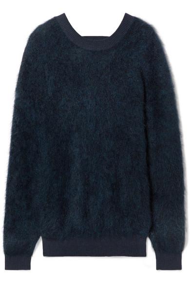Cutout Brushed Knitted Sweater by Mugler