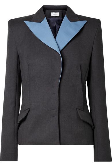 MUGLER Two-tone wool blazer