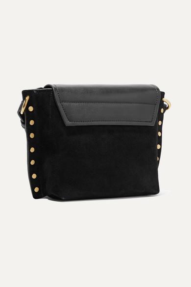 73b93b52d0 Isabel Marant. Kleny embellished leather and suede shoulder bag