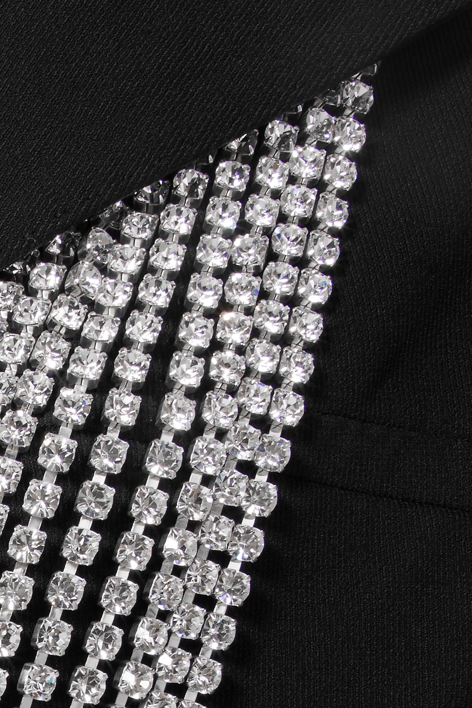 Christopher Kane Crystal-embellished twill blazer