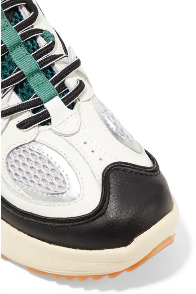 7359b0e373 Jet Turbo leather and mesh platform sneakers. $204. Reduced further. Zoom In