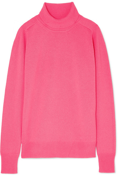 Victoria Beckham - Cashmere-blend Turtleneck Sweater - Pink