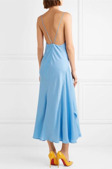 Satin Crepe Midi Dress by Victoria Beckham