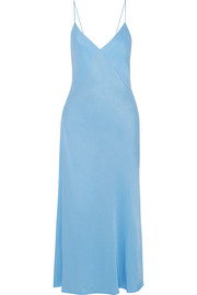 Victoria Beckham Satin-crepe midi dress