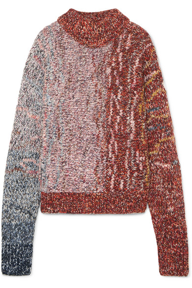 Victoria Beckham - Ribbed Wool-blend Sweater - Lilac