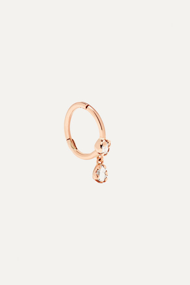 PASCALE MONVOISIN LARA 9-KARAT ROSE GOLD DIAMOND EARRING
