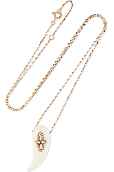 PASCALE MONVOISIN Sunday 9-Karat Rose Gold Bakelite Necklace