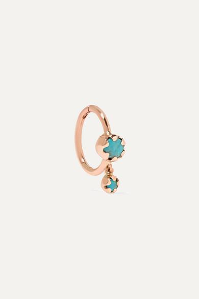 PASCALE MONVOISIN Lara 9-Karat Rose Gold Turquoise Earring