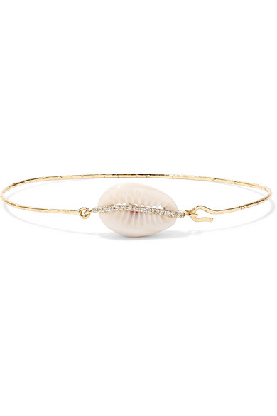 Pascale Monvoisin Cauri 9-karat Rose Gold, Diamond And Porcelain Bracelet