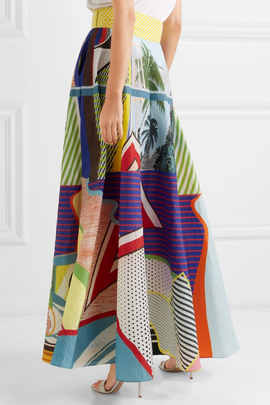 9e23015d17 Mary Katrantzou. Camilla belted printed seersucker maxi skirt. £1,350  £54060% OFF. Reduced further. Play