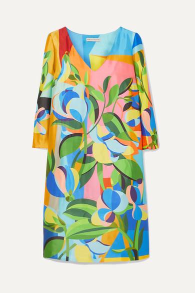 Mary Katrantzou - Shea Printed Satin-faille Mini Dress - Blue