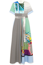 Marlene printed cotton maxi dress