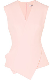 Shea folded stretch-crepe top
