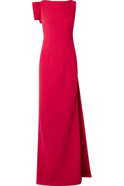 Safiyaa Celestia draped stretch-crepe gown